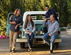 l ove this family pic idea - this is the Wagner family from California - Caymus Winery among others