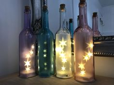 White Decorative Bottle With Led Lights, £5.99