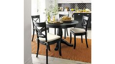 New Kitchen Table Black Chairs Dining Nook Ideas Black Kitchens, Home Kitchens, Kitchen Black, New Kitchen, Kitchen Decor, Kitchen Sets, Kitchen Tables, Black Dining Set, Dining Sets