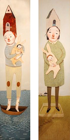 Rebecca Green Illustration - Gallery - In My Home (I & II)