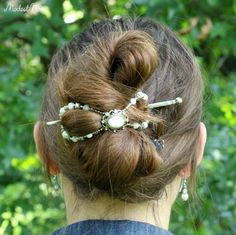 """Hair Tutorial! This is a """"we are leaving the house right now, throw your hair up in something quick"""" hairstyle."""