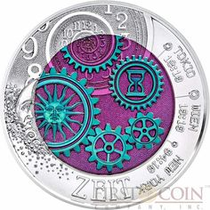 Austria TIME ZEIT series Silver-Niobium coin 25 Euro 2016 space