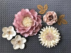 SUPER MINI 5 paper flower backdrop/Paper flower wall/Wedding