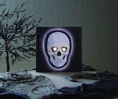 Best Halloween Decoration Lighted Skull Canvas