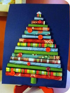 Kerstboom met inpakpapier