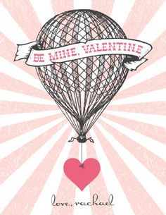 Printable personalized Vintage Hot Air Balloon by chachkedesigns, $5.20