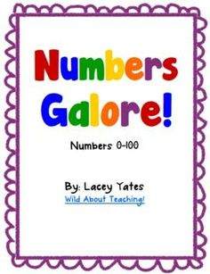 Freebie- Now updated for numbers 0-100!!! This pack includes handwriting practice, ten frame examples, even vs. odd, one more, one less, number partners, etc. for each number 0-100 (in both...