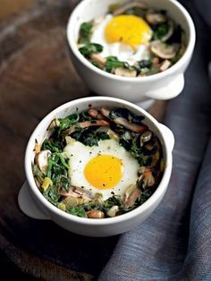 Forget the cereal and go with this protein-packed breakfast recipe. In 10 minutes, you'll have a perfectly cooked egg—whites soft but firm, yolk gloriously runny—surrounded by a tasty and filling supporting cast.
