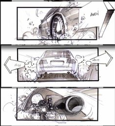 Jonathan Delerue   Transporter Cars Chase Sequence  Drawing
