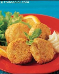 Chick Pea and Soya Tikkis ( Recipe for Bright Vision) recipe | Healthy Recipes | by Tarla Dalal | Tarladalal.com | #5622