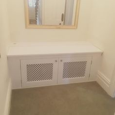 Dog crate enclosure all painted gloss white. #joiner #woodwork #carpenter #dogcrate #furniture #painter de woodburyhomeservices