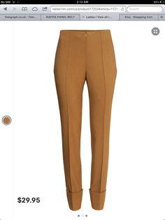 Mustard office pants