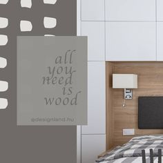 To make your home cozy all you need is wood. Wood Design, Cozy House, All You Need Is, House Design, Make It Yourself, Interior Design, Bed, How To Make, Home