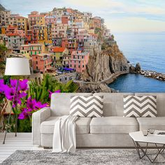 #rewallution #fototapeta #salon #wlochy #wybrzeze # cinquwterre #wnetrze #rewallution #wallpaper #inspiration #view #italy  #changeinterior #interior #wall #decor #home #homedesign #homedecor #design #livingroom #homeinterior