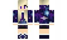 Galaxy Girl Skin For Minecraft Minecraft Skins Galaxy, Pc Minecraft, Minecraft Video Games, Minecraft Girl Skins, How To Play Minecraft, Minecraft Stuff, Minecraft Awesome, Crafts For Girls, Diy And Crafts