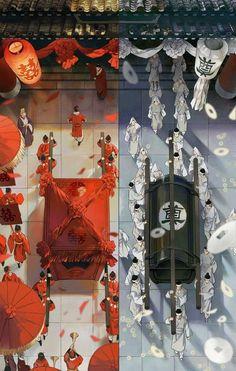 Chinese Drawings, Chinese Artwork, Art Drawings, Anime Art Girl, Manga Art, Drawn Art, Beautiful Fantasy Art, China Art, Anime Angel