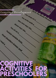 Download our free printable to help your child or speech therapy students working on cognitive & receptive language development skills. This Fill in the Blank list is perfect for children with autism and/or a speech delay and can serve as a building block for reciprocal conversation. #abaspeech #speechtherapy #slp #autism #specialeducation #speechdelay Cognitive Activities, Articulation Activities, Language Activities, Preschool Activities, Preschool Speech Therapy, Speech Therapy Activities, Receptive Language, Speech And Language, Kindergarten Goals