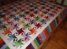 """paper pieced friendship star from """"ontheriver"""" from the Quilting Board"""