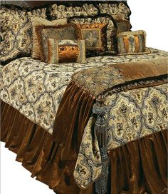 Need your Reilly-Chance Collection luxury bedding set or window treatments customized? Luxury Bedding Collections, Luxury Bedding Sets, Modern Bedding, Home Bedroom Design, Bed Design, Bedroom Ideas, Bed Linen Inspiration, Linens And More, Luxury Homes Dream Houses