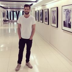 vanityfair: Mr. Grey came to see us! Thrilled #FiftyShades star Jamie Dornan could stop by the VF office amid all the trailer excitement.