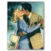 postais de amor vintage