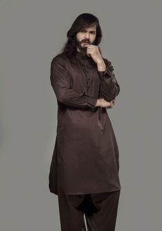 Dark Brown Complete Suit Satan Regular