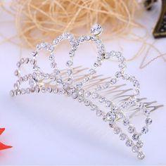 Corona Tiara Diadema Peine Nupcial Novia Boda Diamante de Imitación #01 es.tmart.com #corona #tiara #diadema #crown #novia #nupcial #wedding #boda #fiesta #evento #queen #princesa #princess #reina #moda #belleza #beauty #plata #birthdayparty #makeupparty #party #regalo #gift #girl #wishlist #navidad #christmas #tmart #Tmart #joyas #joyeria #jewellery #pulsera #anillo #pendiente #collar #silver #oro #lujo #accesorios #bridal #headband #plata #comb #peine #haircomb #hair #pinza #pin