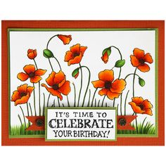 Stampendous Cling Mounted Rubber Stamps - Poppy Fields