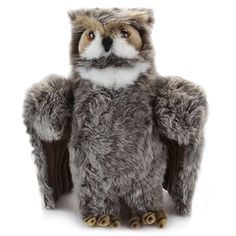 Our Lifelike 14 Inch Large Plush Great Horned Owl by SOS is perfectly suited for both. Measuring fourteen inches, this large plush great horned owl is wonderfully designed Burrowing Owl, Great Grey Owl, Special Symbols, Great Horned Owl, Snowy Owl, Vintage Cartoon, Special Characters, Plush Animals, Stuffed Toy