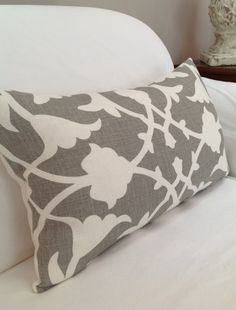 Kravet Fabric's Barbara Barry Collection Linen Lumbar Pillow with Down and Feather Insert on Etsy, $65.00