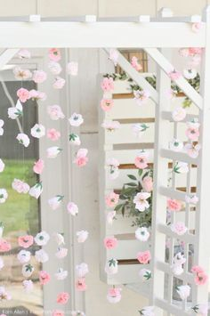 Kara's Party Ideas Chic Floral Baby Blessing Luncheon with FREE Printables Girl Baptism Party, Christening Party, Baby Baptism, Baptism Ideas, Baby Shower Niño, Floral Baby Shower, Baptism Party Decorations, Baby Blessing, Backdrops For Parties