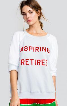 Aspiring Retiree Sommers Sweater | Wildfox