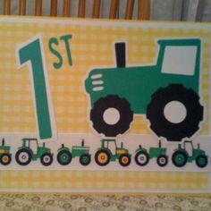 Invitations for my Grandson's 1st Birthday Party....John Deere theme