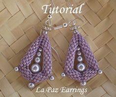 Etsy の TUTORIAL La Paz Earrings Beading pattern by Ellad2