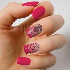 Encontre e salve ideias de unhas decoradas atuais, de bom gosto, acompanhando as últimas tendências para você se inspirar e fazer. Pretty Nails, Nail Designs, Nail Art, Beauty, Patterns, Fashion, Nail Bling, Nail Ideas, Nail Gel