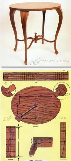 Round Side Table Plans - Furniture Plans and Projects | WoodArchivist.com