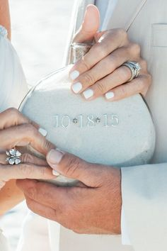 Sand Ceremony.  - The sand they stood on when they took their vows.  Perdido Key Beach Wedding.  www.CoastalSoirees.com