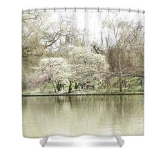 Interior design ideas with gray colors. Shower Curtain featuring the photograph St. James Park London by Judi Saunders.