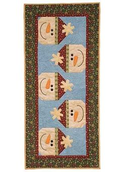 Patterns for Christmas Table Runners | ... Through the Seasons Table Runner Pattern | Christmas Throws, R