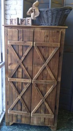 Storage cabinet for pantry or bathroom