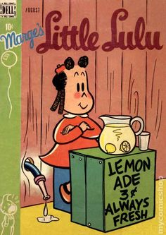 Little Lulu Published August 1949 by Dell/Gold Key Old Comic Books, Vintage Children's Books, Comic Book Characters, Old Comics, Vintage Comics, Daws Butler, Funny Toons, Cute Illustration, Archie