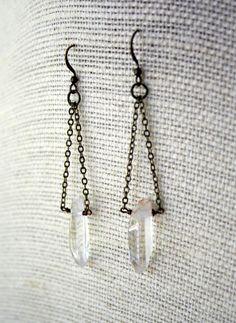 Raw Crystal Earrings $22