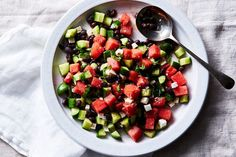 Black Bean with Melon(s) and Feta Salad recipe on Food52