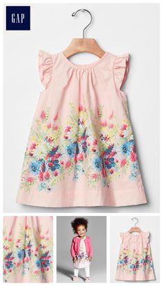 Baby dresses & rompers from Gap are cute and comfortable for your active baby girl. Shop a variety of colors and prints to find the perfect baby girl dress. Baby Dress Clothes, Baby Kids Clothes, Baby Girl Fashion, Kids Fashion, Little Girl Dresses, Girls Dresses, Young Fashion, Toddler Girl, Look