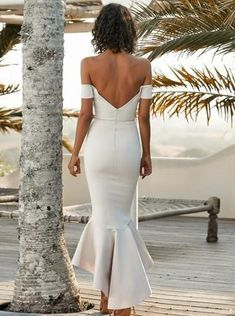 Buy Mermaid Off the Shoulder Sweetheart Ivory Satin Open Back Ruffles Bridesmaid Dresses Online – jolilis Asymmetrical Bridesmaid Dress, Ruffles Bridesmaid Dresses, High Low Bridesmaid Dresses, Bridesmaid Dresses Online, Mermaid Prom Dresses, Wedding Dresses, Mermaid Midi Dress, Formal Dresses, Rosa Satin