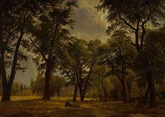"""Yosemite Valley Scene,"" Gilbert Munger, 1876, oil on canvas, 20 x 28"", Oakland Museum of California."