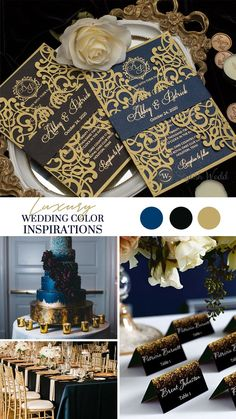 Something blue never go out of style. Your wedding will be full of happiness and surprise with our navy invitations. And foil Imprint adds a shiny, high-end look without the high-end price.