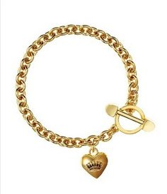 Juicy Couture B Puffed Medium Heart Bracelet Toggle YJRU6625  Price : $39.99 http://www.thebagtique.com/Juicy-Couture-Puffed-Bracelet-YJRU6625/dp/B00CSA0WH6