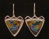 Cloisonne' Enamel Earrings