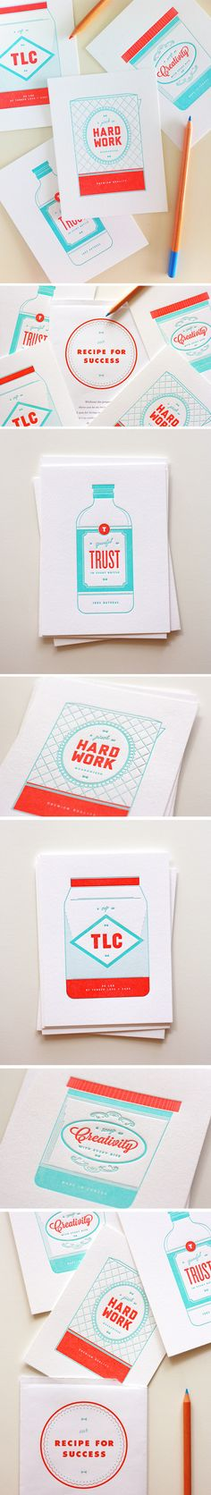 Recipe for Success Series One Plus One Design #Stationery #Design #Illustration in Our Work